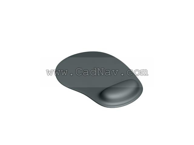 Mouse pad 3d rendering