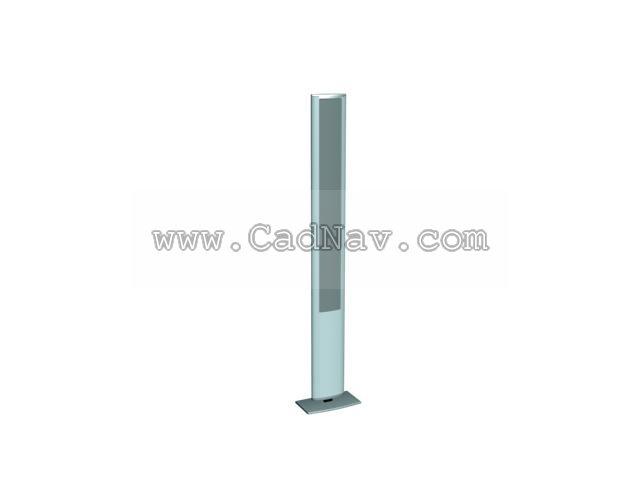 Vertical speaker 3d rendering