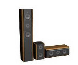 Multimedia speakers 3d model preview