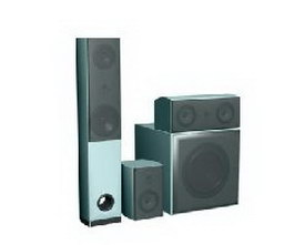 Home theater speaker 3d model preview