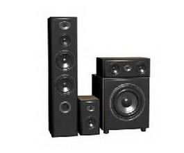 Family speakers 3d model preview