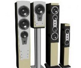 Digital stereo speakers 3d model preview