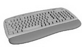 PC keyboard 3d model preview