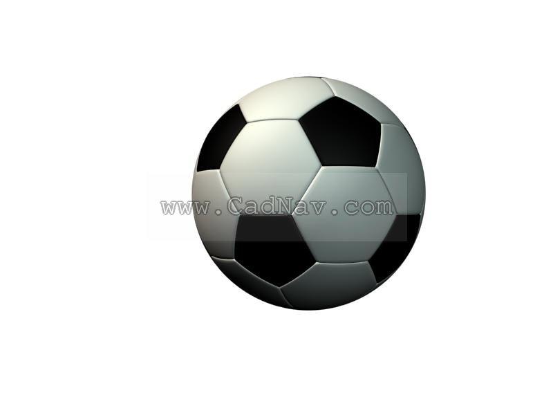 Soccer football 3d rendering