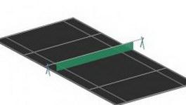 Badminton court 3d preview