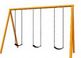 Trapeze Table swing frame 3d model preview