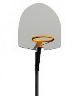 Single-pole basketball stand 3d preview