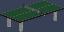 Table tennis table 3d model preview