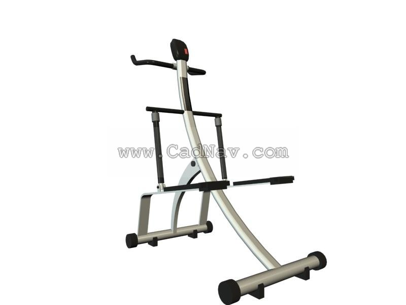 Fitness equipment 3d rendering