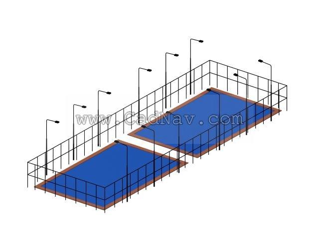 Swimming pool 3d rendering