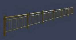 Metal railings 3d model preview