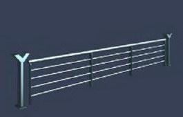 Balcony railings 3d model preview