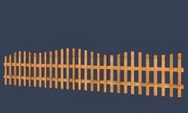 Wooden barriers 3d model preview