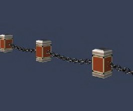 Guard rails 3d model preview