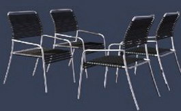Modern Metal Dining Chair 3d model preview