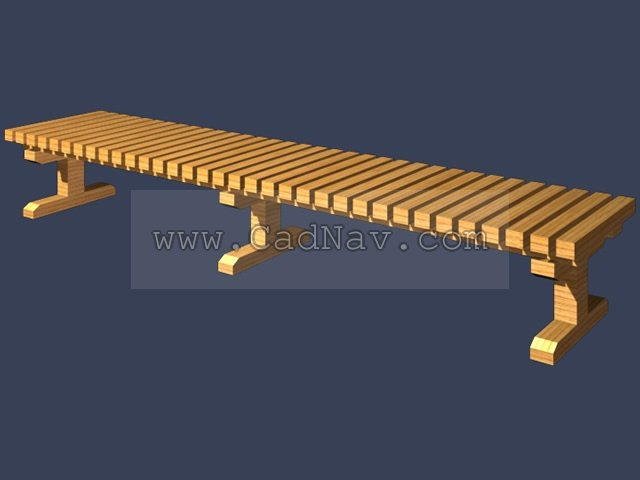 Fir Garden Bench 3d rendering
