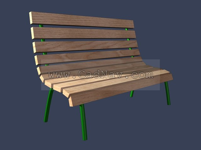 Outdoor Community Wooden Benches 3d rendering