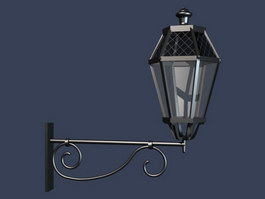 Street lamps 3d preview