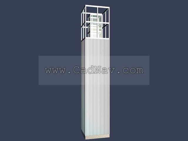 Stainless steel lawn lamp,garden lighting 3d rendering