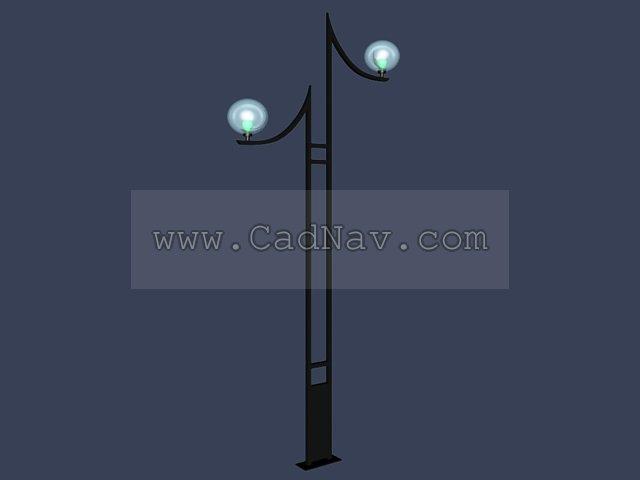 Metal Yard Light 3d rendering
