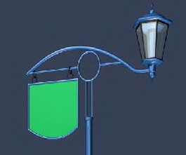 Archaize street lamps 3d preview