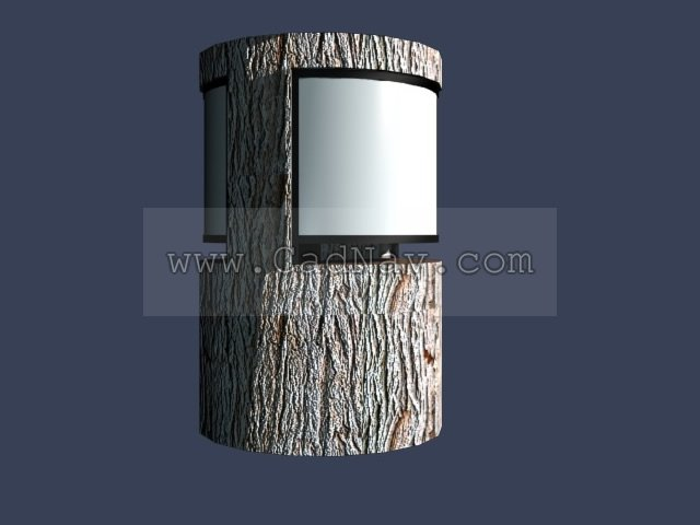 Lawn lamp light 3d rendering