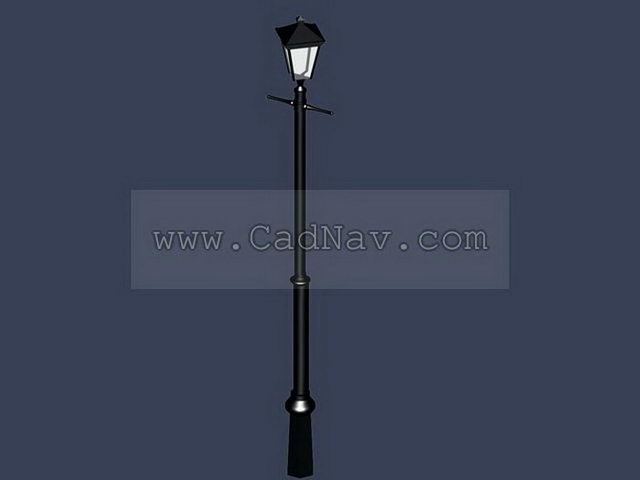 Metal street lamp post 3d rendering