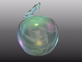 Crystal Apple 3d preview