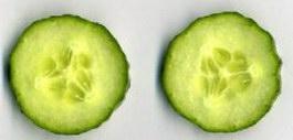Cucumber slices texture
