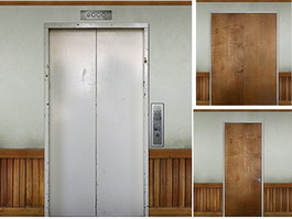 Elevator door and office door texture