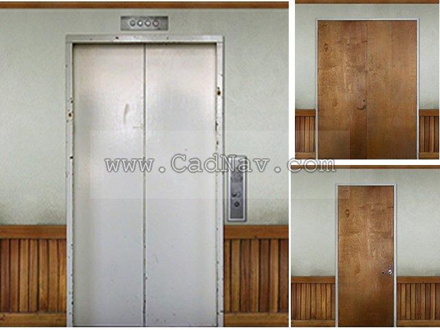 Elevator door and office door texture