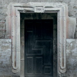 Antique stone wood door texture