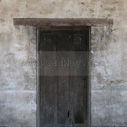 Old lime walls and wooden door texture
