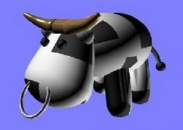 Toy cow 3d preview