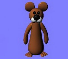 Mickey Mouse 3d model preview