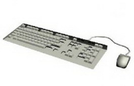 Keyboard and mouse 3d model preview