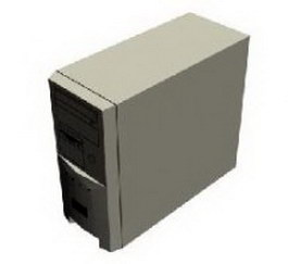 Host computer 3d model preview