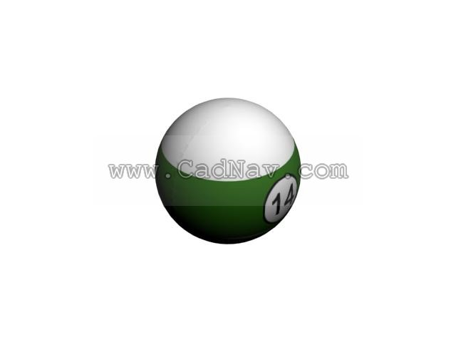 Billiard pool ball 3d rendering