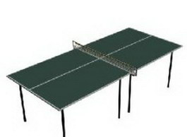 Ping-pong table tennis table 3d preview