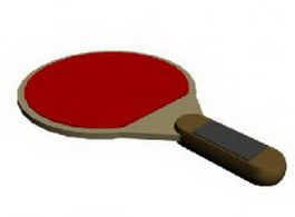 Table-tennis paddle 3d preview