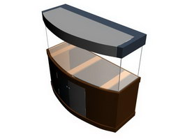 Fish tank with the base 3d model preview