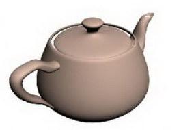 Ceramic teapot 3d model preview