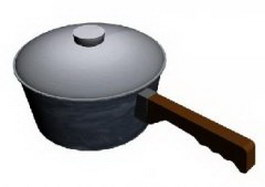 Saucepan 3d model preview