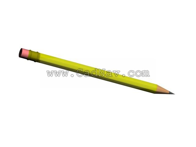 Pencil 3d rendering
