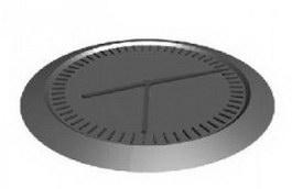 Iron clock 3d model preview