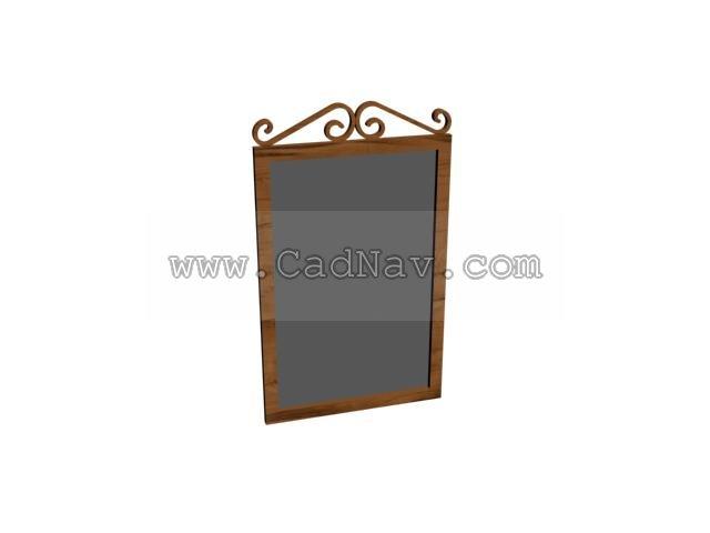 Bathroom mirror 3d rendering