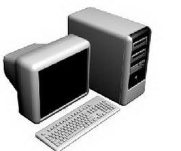 Computer 3d model preview