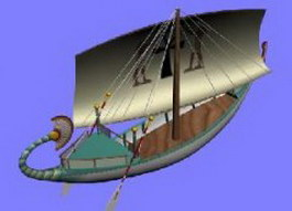 Wooden galleon 3d model preview