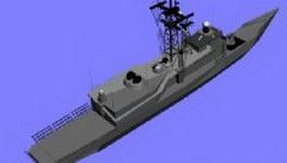 Frigate 3d model preview