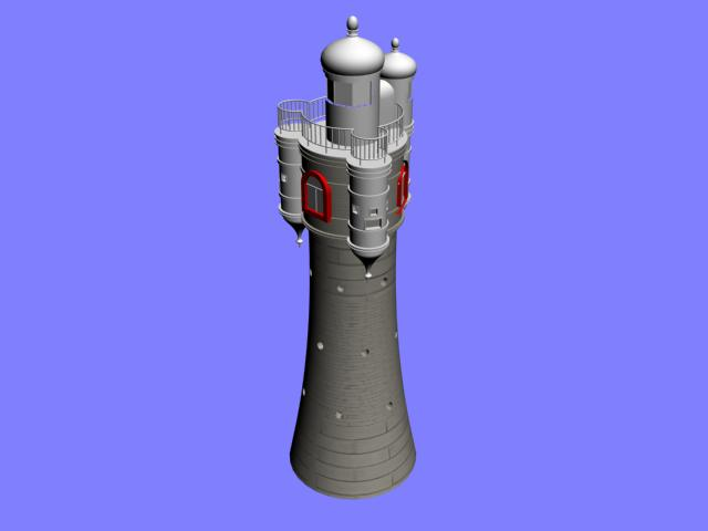 Lighthouse 3d model preview